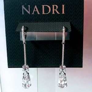 NWT Nadri cubic zirconia linear drop earrings